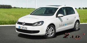 Новый электромобиль Volkswagen Golf 2013 года