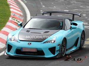 Lexus приступил к испытаниям самого экстремального спорткара LFA