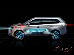 Mitsubishi Outlander будет ездить на электричестве