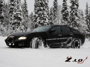 Maserati Ghibli заметили на зимних испытаниях