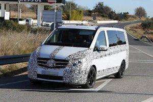 Обновленные Mercedes-Benz V-Class и Vito тестировали на юге Европы