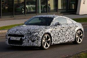 Новый автомобиль Audi TT был сфотографирован во время дорожных тестов